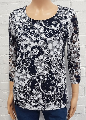 Claudia C Floral Lace Top
