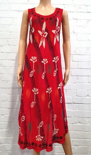 Claudia C Red Tie Dye Umbrella Dress