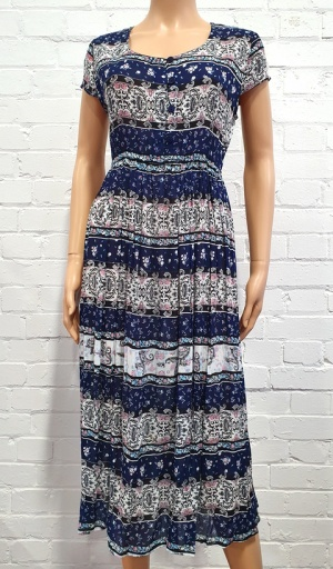 Claudia C Floral Stripe Dress