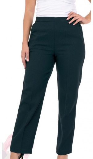 Half Elasticated Stretch 27'' Long Trouser