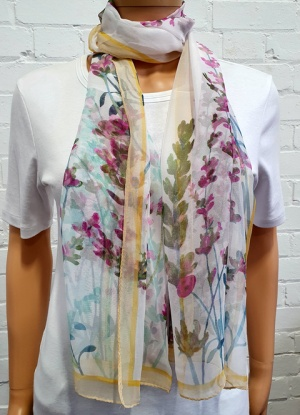 Scarf Floral Print with Boarder