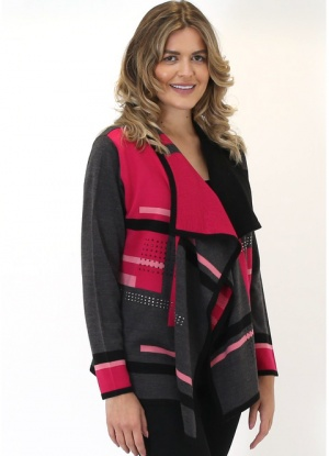 MudFlower Stripe Water Fall Cardigan