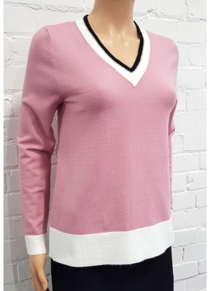 V Neck Silver Trim Jumper