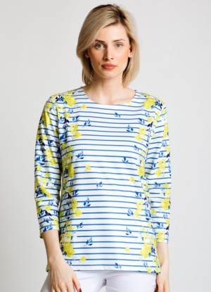 Jessica Graaf Stripe And Floral Print Top