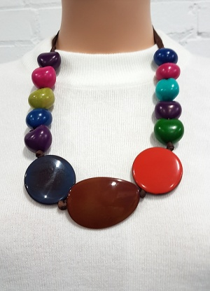 Xebu Multi Colour Large Bead Necklace