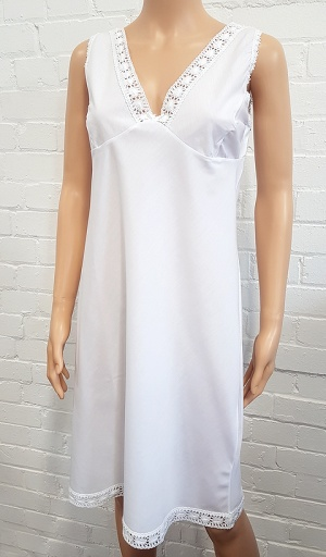 Wide Strap Poly Cotton Full Slip