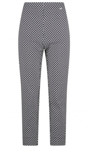 Pinns Geo Print Ankle Grazer Trousers