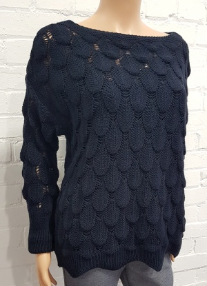 LV Pretty Open Leaf Knit Jumper