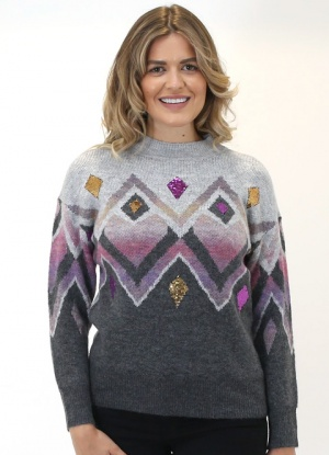 Mudflower Diamond Sequin Jumper