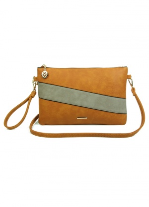 Superbia Stripe Clutch & Cross Body Bag