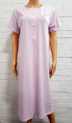 Pure Cotton Print Short Sleeve Nightdress