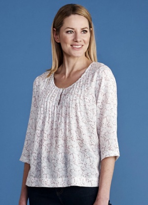 Mistral Speckle Print Swing Top
