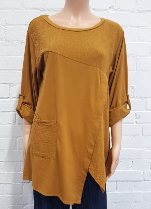 Mudflower V Hem Blouse