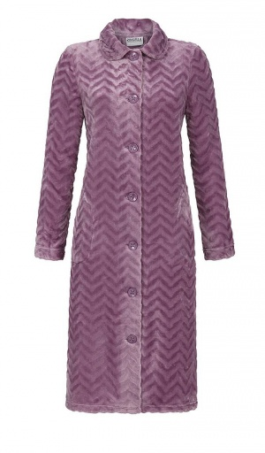 Ringella Luxury Jaquard Button Velour Housecoat