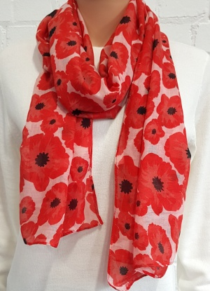Small Poppy Print Scarf