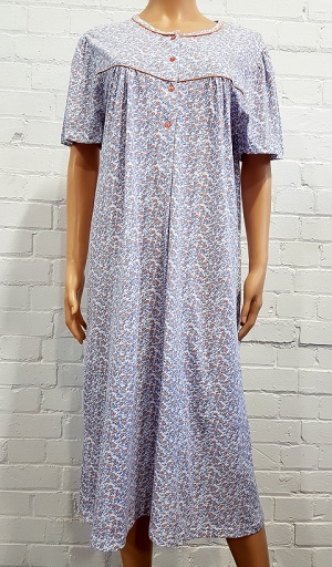 Pure Cotton Long Length Nightdress