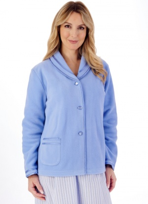 Slenderella Polar Fleece Button Bed Jacket
