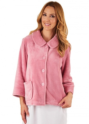 Slenderella Collared Luxury Fleece Bed Jacket