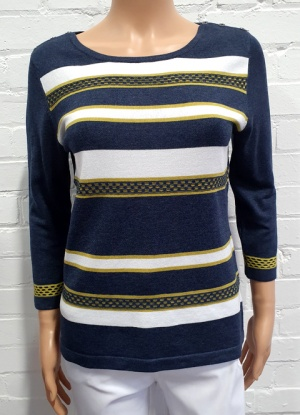 Claudia C Textured Stripe Jumper