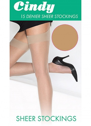 Cindy 15 Denier Sheer Stockings