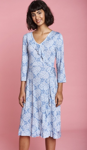 Mistral Clover Fields Mock Wrap Dress