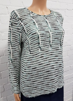 Claudia C Stripe Detail Knitted Jumper