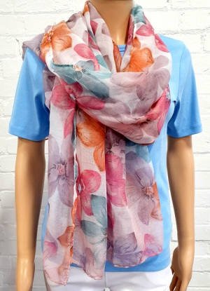 Ladies Fashion Flower Print Scarf