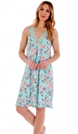 Gaspe V Neck Sleeveless Nightdress