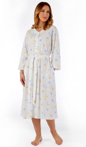 Slenderella Light Weight Button Housecoat