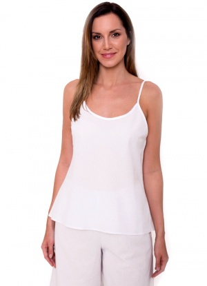 JD Collection 100% Cotton Adjustable Strap Camisole