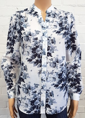 Double Two Blue Rose Blouse
