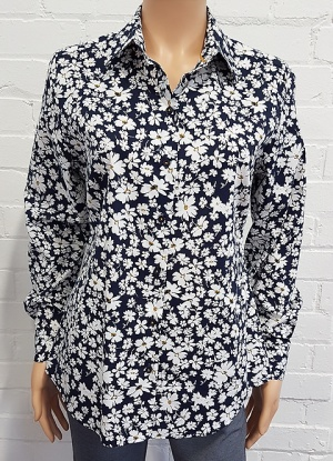Double Two Daisy Print Blouse
