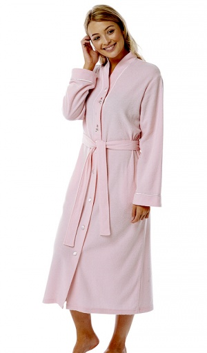 Marlon Embroidered Button Front Housecoat