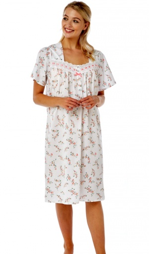 Marlon Ribbon Slot Short Sleeve Nightdress