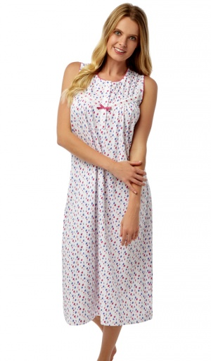Marlon  Jersey Sleeveless Cotton Nightdress