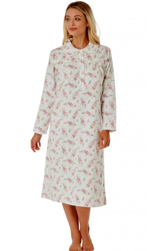 Marlon Floral Brushed Cotton Nightdress