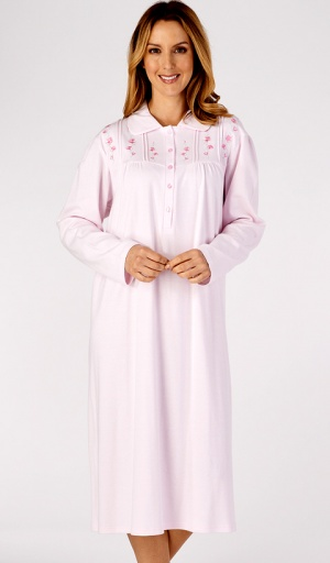 Slenderella Pure Cotton Embroidered Nightdress