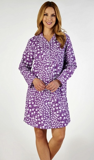 Slenderella Long Sleeve Pure Cotton Nightshirt