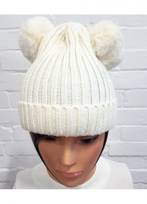 Fun Two Pom Pom Hat