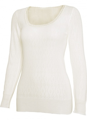 White Swan Long Sleeve Thermal Top