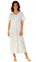 La Marquise Cherry Blossom Short Sleeve Long Length Nightdress