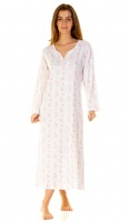 La marquise Country Fair Long Sleeve Cotton Nightdress