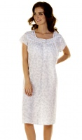 La Marquise Vintage Floral Short Sleeve Nightdress