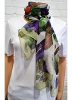 Scarf In Abstract Print