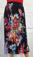 Claudia C Crystal Pleat Floral Skirt