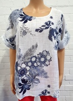 LV Round Neck Floral Top