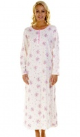La Marquise Pink Bouquet Long Sleeve Nightdress