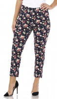 Pinns Floral Print Ankle Grazer Trousers