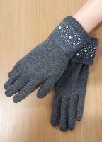 Jewelled Cuffed Gloves