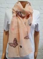 Scarf Butterfly & Heart Print